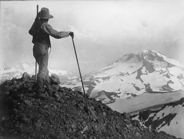 South Sister from North Sister, 1903